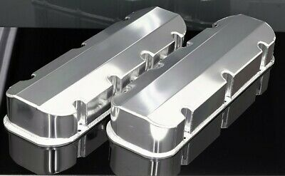 SBC CHEVY FABRICATED TALL ALUMINUM VALVE COVERS NO ACC HOLES # 6147-POL