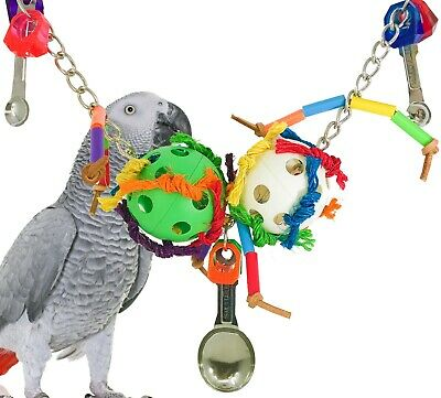 Cute Foraging Bird Parrot Cage Toys Cages For African Grey Cockatiel Conure GIL