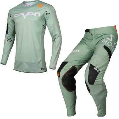 Seven Rival Trooper Motocross Jersey and Trousers 2019 Paste Green C Ombo Set