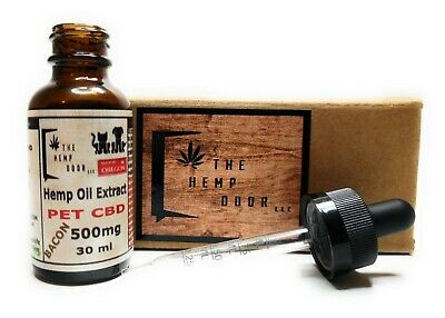 500mg CBD Drops for Dogs & Cats/ Anxiety/Joint/Natural Pain Relief/ BACON Flavor