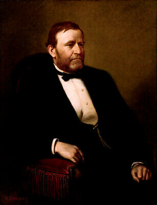 "Hand Painted Portrait Oil Painting On Canvas : ""Ulysses S Grant"" 24""X36"" 51712"