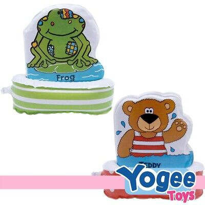 Floatee Bath Book Value Pack: Frog + Teddy
