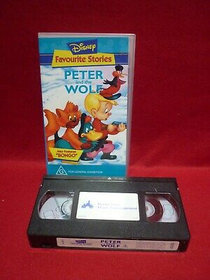 Disney Favourite Stories - Peter And The Wolf Vhs Video Tape Animated Classic