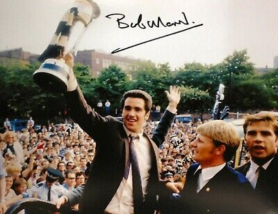 Bobby Moncur Signed Newcastle 10X8 Football Photo 1969 Fairs Cup Proof Coa Nufc