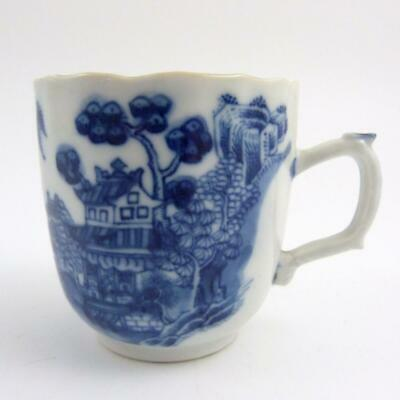 Chinese Blue And White Porcelain Coffee Cup, 18Th Century, Qianlong Period