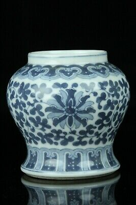 Mar038 Chinese Blue&white Porcelain Arabesque Design Small Pot Bottle