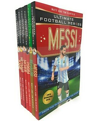 Ultimate Football Heroes 6 Book Set Collection Pack Series 3 Inc Messi, Ronaldo
