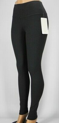 ec657ae7cc NEW LULULEMON Wunder Under Tight HR 2 Pique Black Dark Slate Tights FREE  SHIP