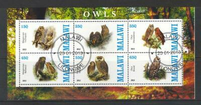Malawi 2013 Owls Used Ms Not Listed In Sg
