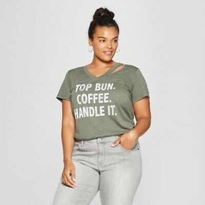 8533422ef NEW Grayson Threads Junior Women's Plus Size Graphic T-Shirt - Olive - Size: