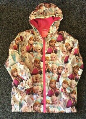Disney .. Frozen Rain Coat  From Next .. Age 10 .. Hooded Mac - Lovely Condition