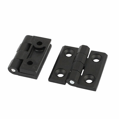 Home Door Aluminum Ball Bearing Hinge Black 50x50mm 2pcs