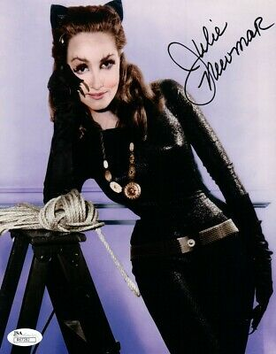 Julie Newmar Signed Autographed 8X10 Photo Batman Sexy Catwoman Black Ink JSA