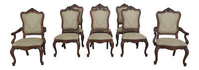 L47074EC: Set Of 8 ETHAN ALLEN French Style Dining Room Chairs