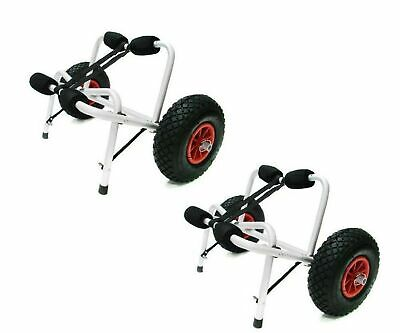 TMS 2 X Jon Boat Kayak Canoe Carrier Dolly Trailer Tote Trolley Transport Car...