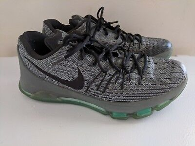 new style 039ed 75644 NIKE KD 8 Hunts Hill Night/silver/pewter Green Glow Men's Sz 9.5  (749375-020)*