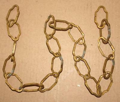 """Vtg 36"""" Heavy Duty Cathedral Italian Tole Chandelier Chain Light Fixture Chain"""