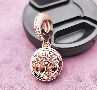 Authentic Pandora  Charm Rose Gold Family Roots Dangle Open Work 781988 #4