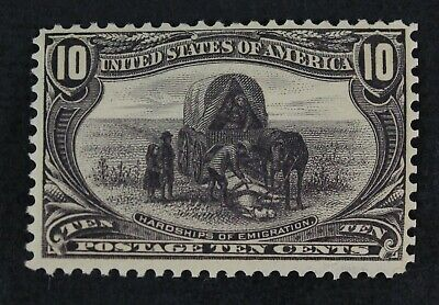 CKStamps: US Stamps Collection Scott#290 10c Mint VLH OG Tiny Thin CV$150