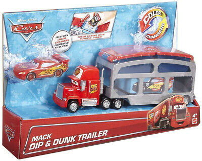 Cars Mack Transporter Toy Colour Changing Lightning McQueen Vehicle Disney Pixar
