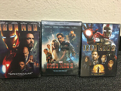 Iron Man 1 2 3 Trilogy 3 Marvel Movie Collection DVD - BRAND NEW  SEALED Box US
