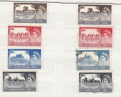Elizabeth II Expensive postage stamps Unmounted MINT and used FULL SET 2/6 to £1