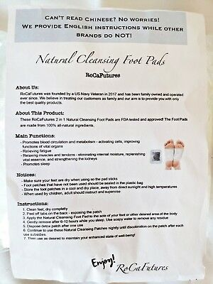 Natural Cleansing Foot Pads Rose and Lavender Scented Pack of 20 New Sealed Pkgs