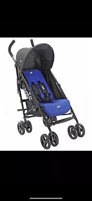 JOIE BLUE NITRO STROLLER/BUGGY With Raincover.