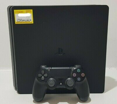 Sony PlayStation PS4 Slim CUH2116A 500GB Jet Black Console + Accessories Unboxed