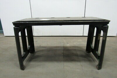 "Vintage Cast Iron Webbed Top Machine Base Work Table Bench 51x20-3/4x32""H"