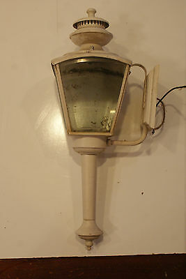 Vintage White Outdoor Wall Light Nulco Mfg S#5