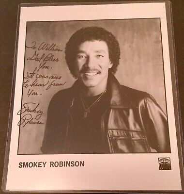 Smokey Robinson Autograph Inscribed Photo COA