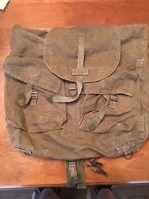 Czech Army M60 Backpack with Straps - Military Surplus Canvas Rucksack