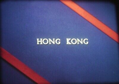 1964 COLOR HOME MOVIE 16mm Film HONG KONG Local STREET Scenes HORSE RACING 400'