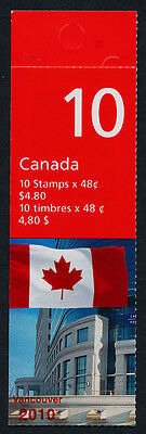 Canada 1991a Booklet BK251Ai MNH Flag over Post Office HQ, Vancouver 2010 o/p