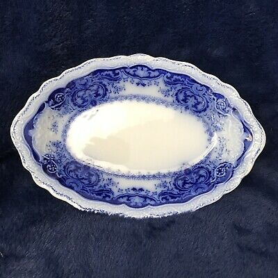 """Flow Blue 8"""" """"persian"""" Relish/small Platter  By Johnson Bros  England Nice!!"""