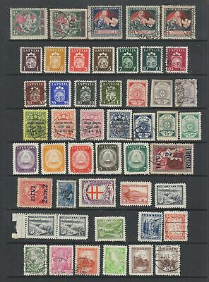Latvia early collection, 87 stamps MH / MNH or fine used ,
