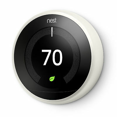 Nest 3rd Generation Learning Programmable Thermostat - Stainless - Saves Energy