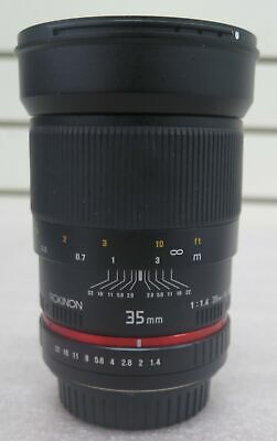 Rokinon 35mm f/1.4 Wide-Angle US UMC Aspherical (AS) Lens for Canon