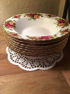 Royal Albert Old Country Roses 1962 SOUP Bowls Lot Of 8