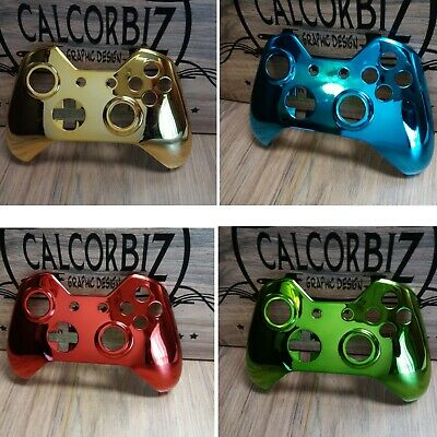 Microsoft Xbox One Wireless Controller Chrome Faceplate Gold,Blue,Red,Green