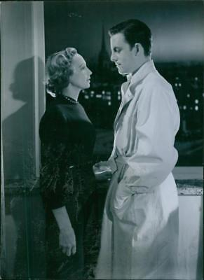 A scene from the film Divorced. - Vintage photo