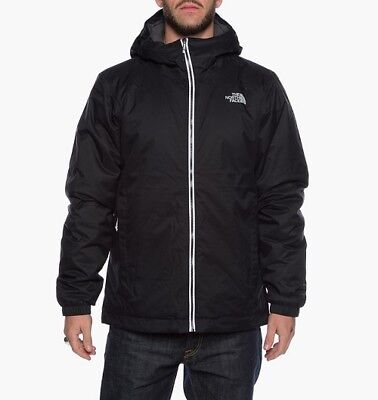NWT The North Face Mens Quest Insulated Jacket LARGE Black T0C302JK3 Waterproof