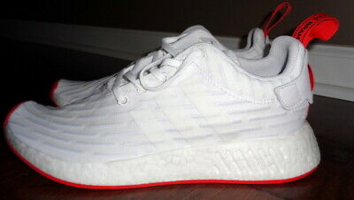 new arrival aeebc ee61f ADIDAS BA7253 R2 Primeknit PK Boost White Core Red Men's Size 10 NEW Shoes