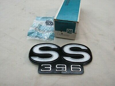 * NOS 1967 Chevy Chevelle SS 396 Rear Tail Panel Name Badge Emblem GM 4229992