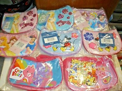 NEW Disney, Flintstones, Care Bear Character Purses lot of 16 $3.12 ea