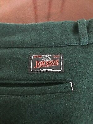 2492e138d03f0 JOHNSON WOOLEN MILLS Vermont Made Hunting Pants NWOT Size 44 x 32L ...