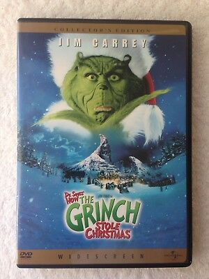 How The Grinch Stole Christmas. (DVD, WS, 2001) Jim Carrey As The Grinch!!!
