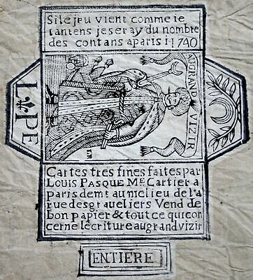 1740 packaging envelope playing cards Spielkarten cartes a jouer Spiele jeu game
