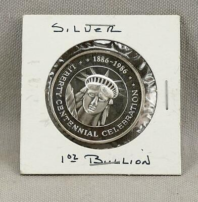 1886-1986 Statue Of Liberty Trade Unit 1 Troy Ounce .999 Fine Silver Round!